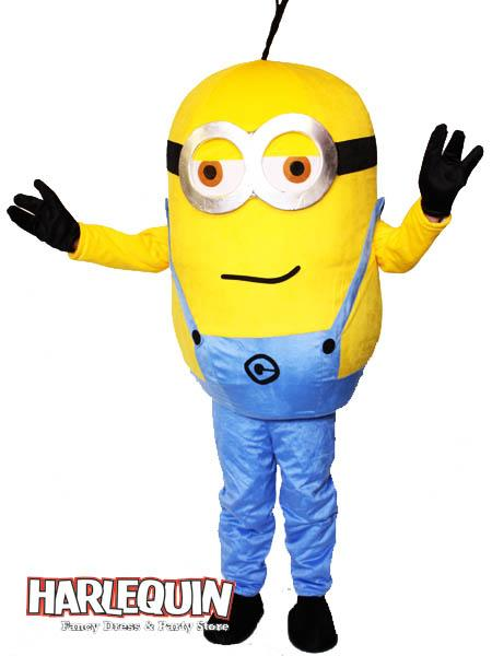 Minion Style Mascot Hire Costume Two Eye