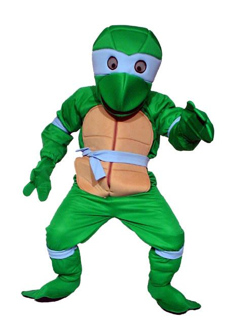 Ninja Turtle Blue Mascot Hire Costume