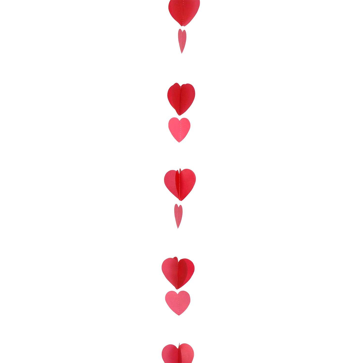 Balloon Tail String Hearts Red Pink White