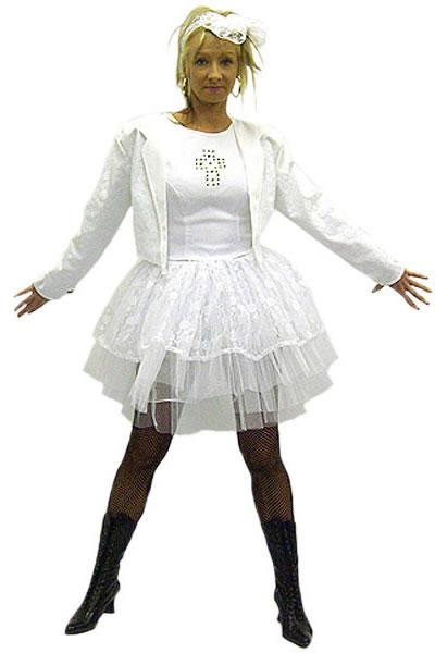 1980s Madonna White Hire Costume