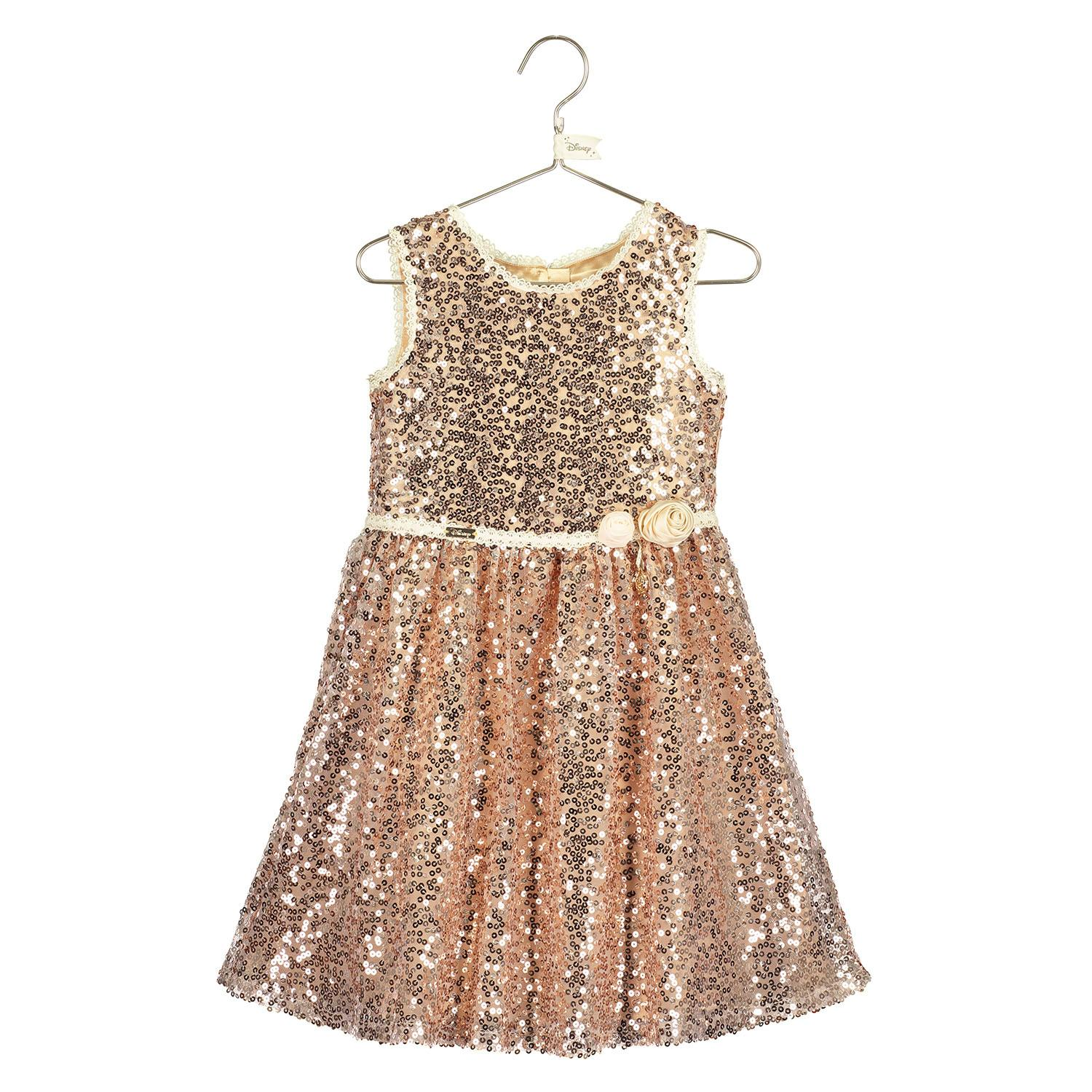 Belle All Over Gold Sequin Dress