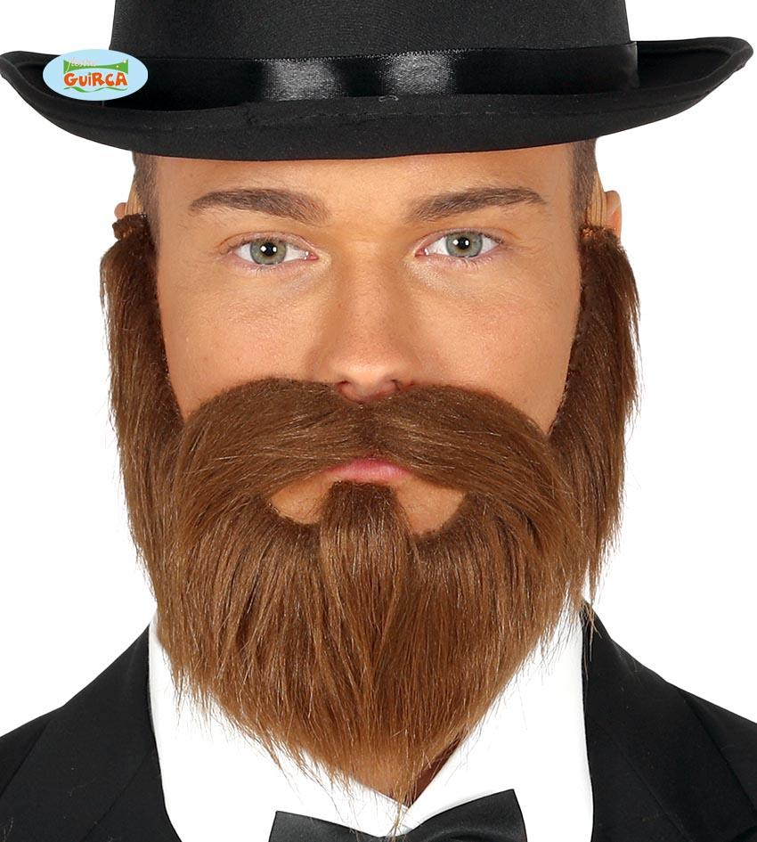 Beard with Moustache Brown