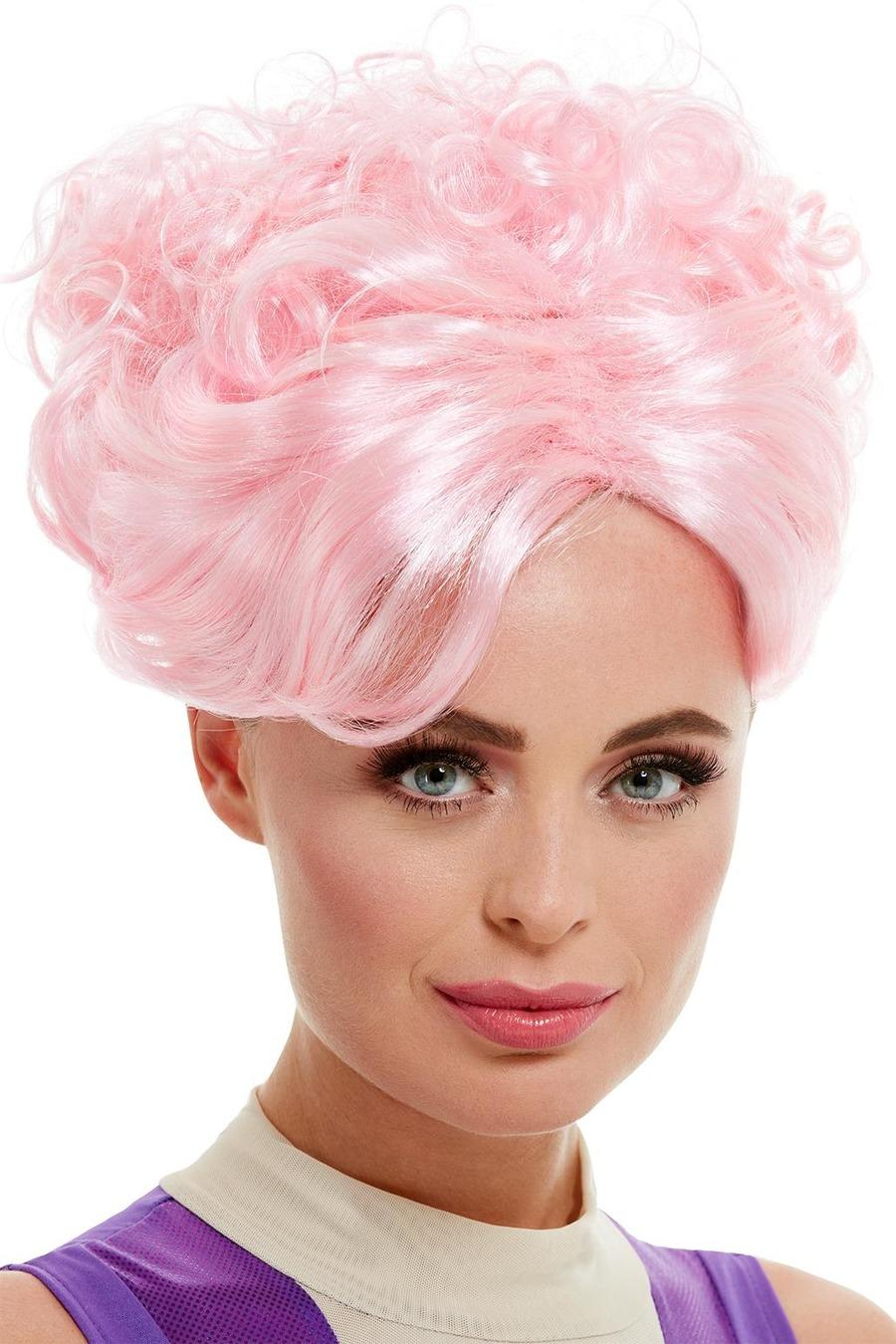 Trapeze Artist Wig Pink