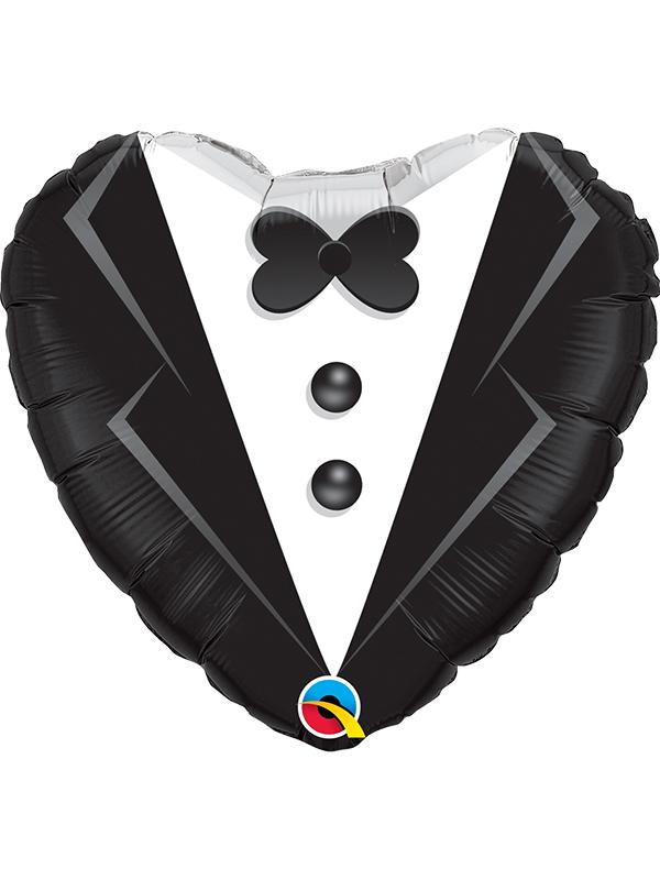 Foil Balloon Wedding Tuxedo