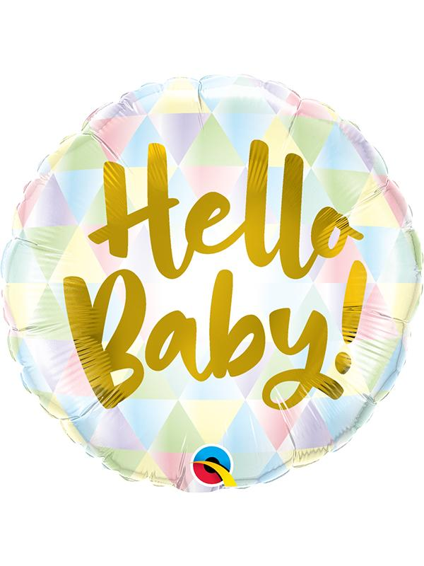 Foil Balloon Hello Baby