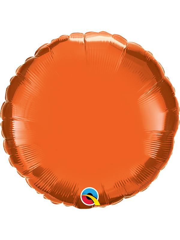 Foil Balloon Round Orange