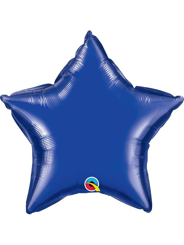 Foil Balloon Star Dark Blue