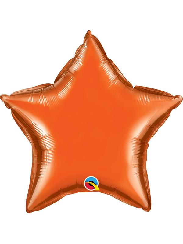 Foil Balloon Star Orange