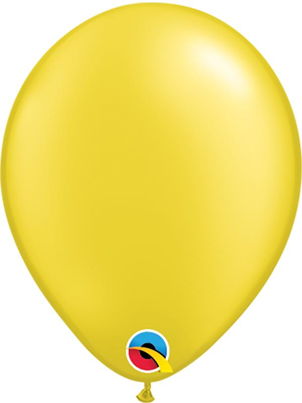 Pearl Latex Balloons Citrine Yellow