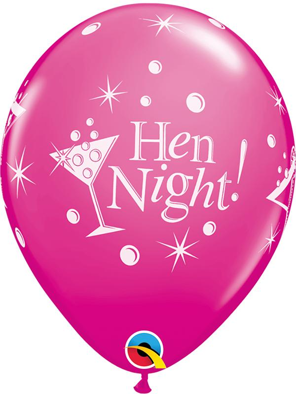 Latex Balloons Hen Night Wild Berry
