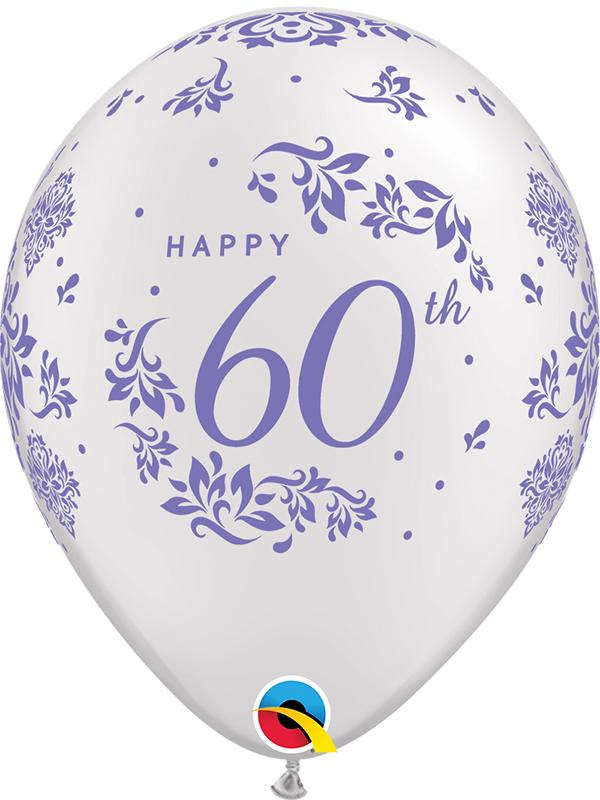 Latex Balloons 60th Anniversary Pearl