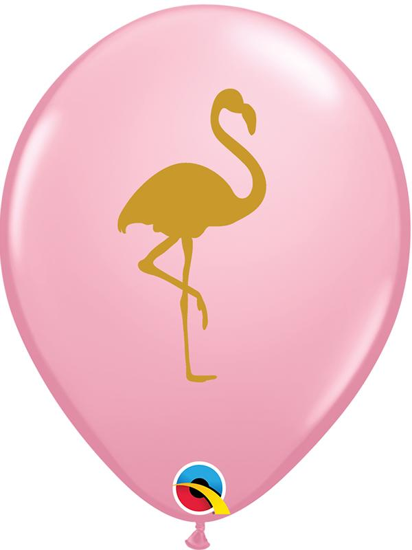 Latex Balloons Gold Flamingo Pink