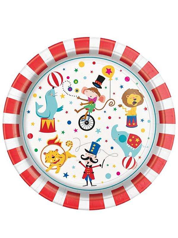Paper Plates Circus Carnival 9 inch