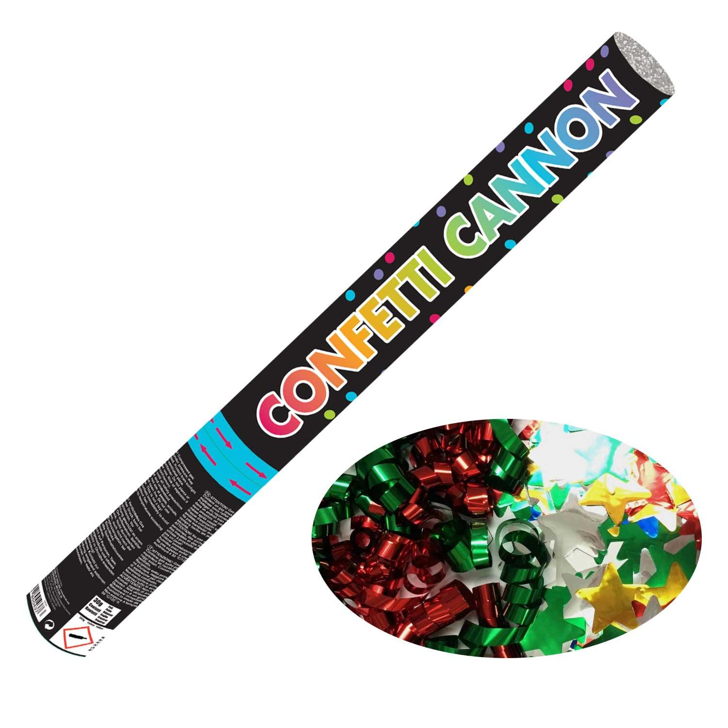Confetti Cannon Multi-coloured Foil Large