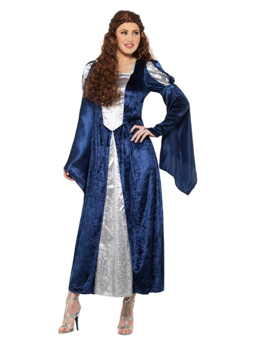 Medieval Maid Costume Blue with Dress
