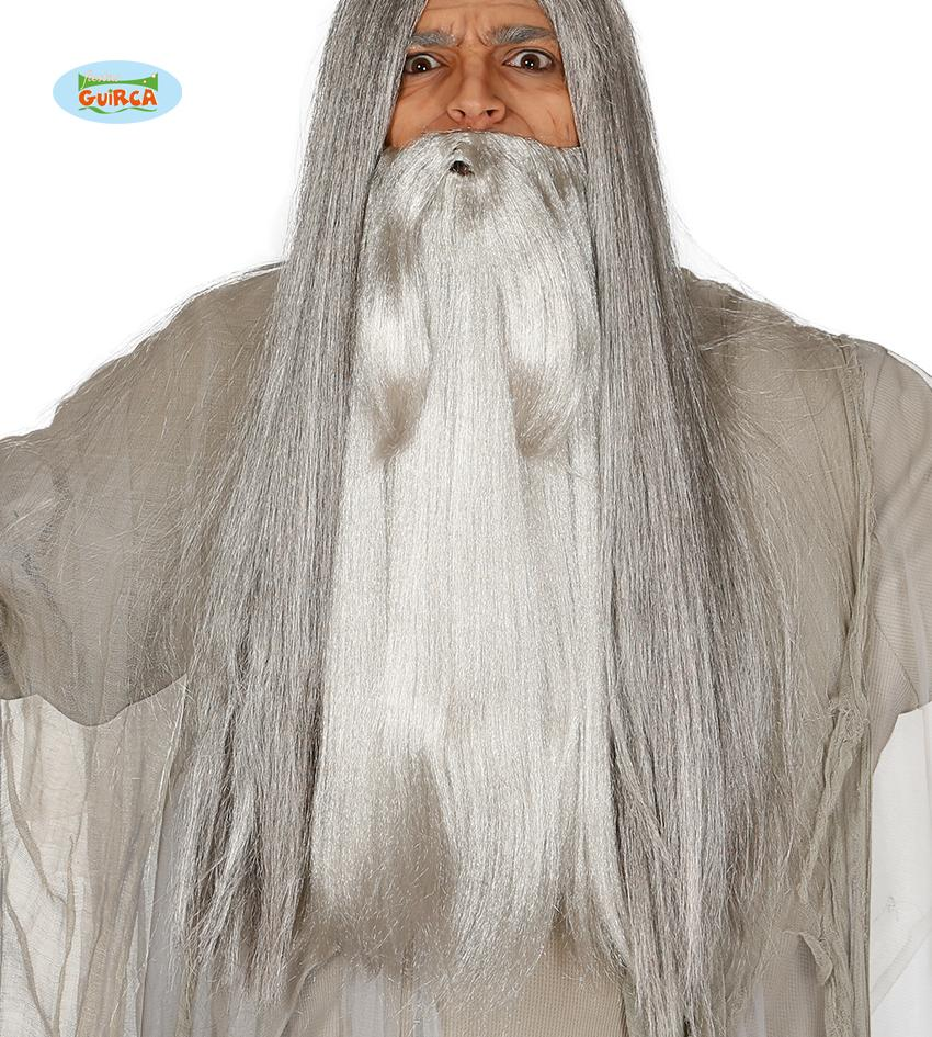 Long Wizard Beard Light Grey