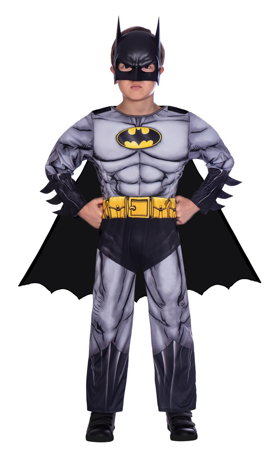 Kids Classic Batman Costume Grey
