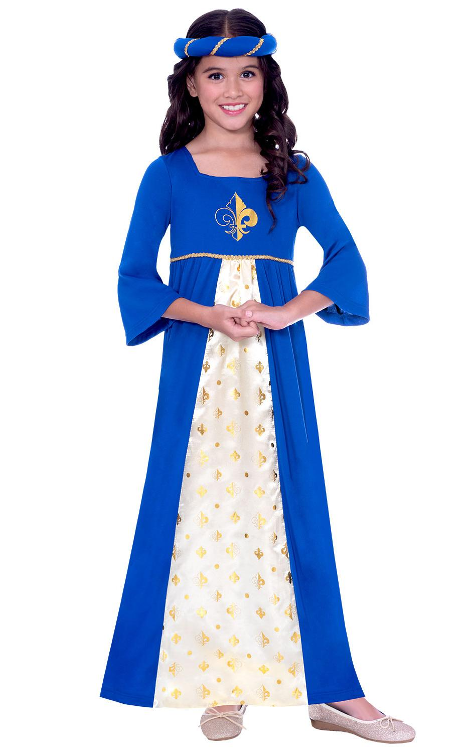 Kids Tudor Princess Costume Blue
