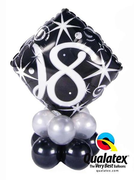 Table Mini Bouquet Birthday Black & Silver