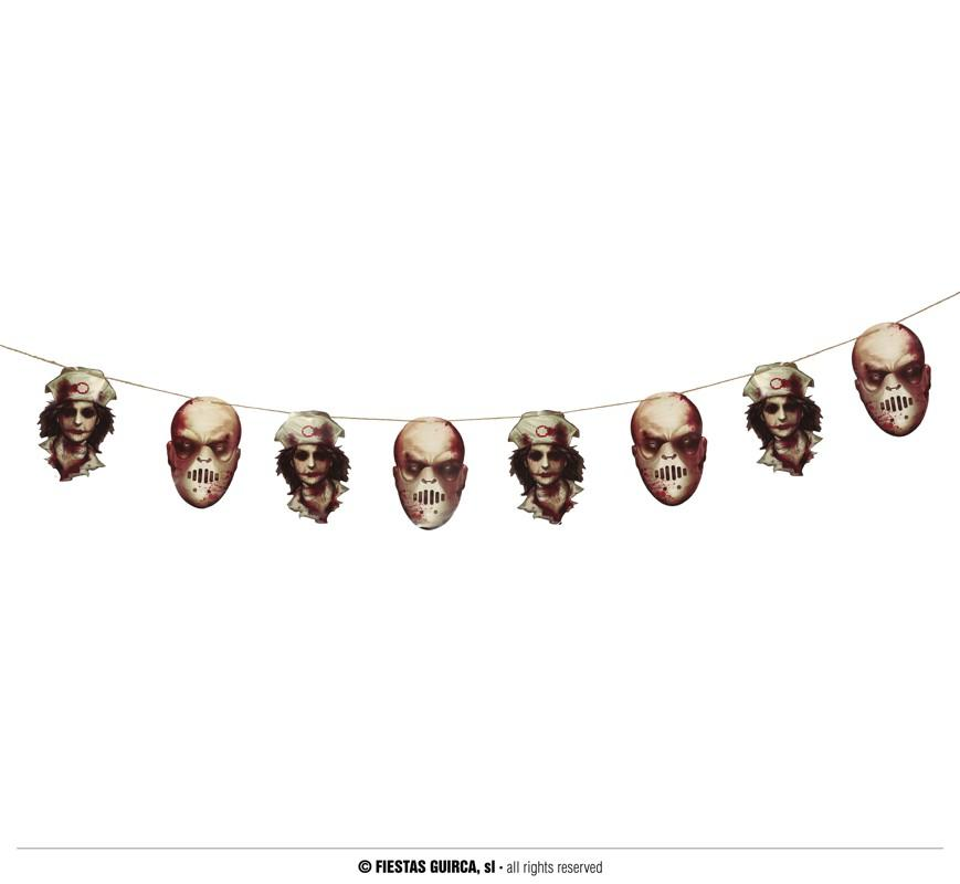 Halloween Scary Faces Garland