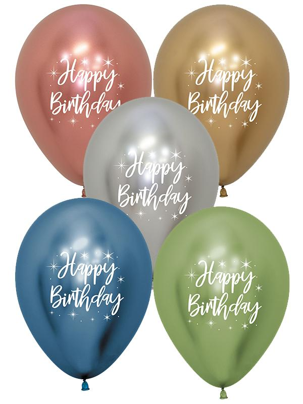 Latex Balloons Birthday Radiant Reflex