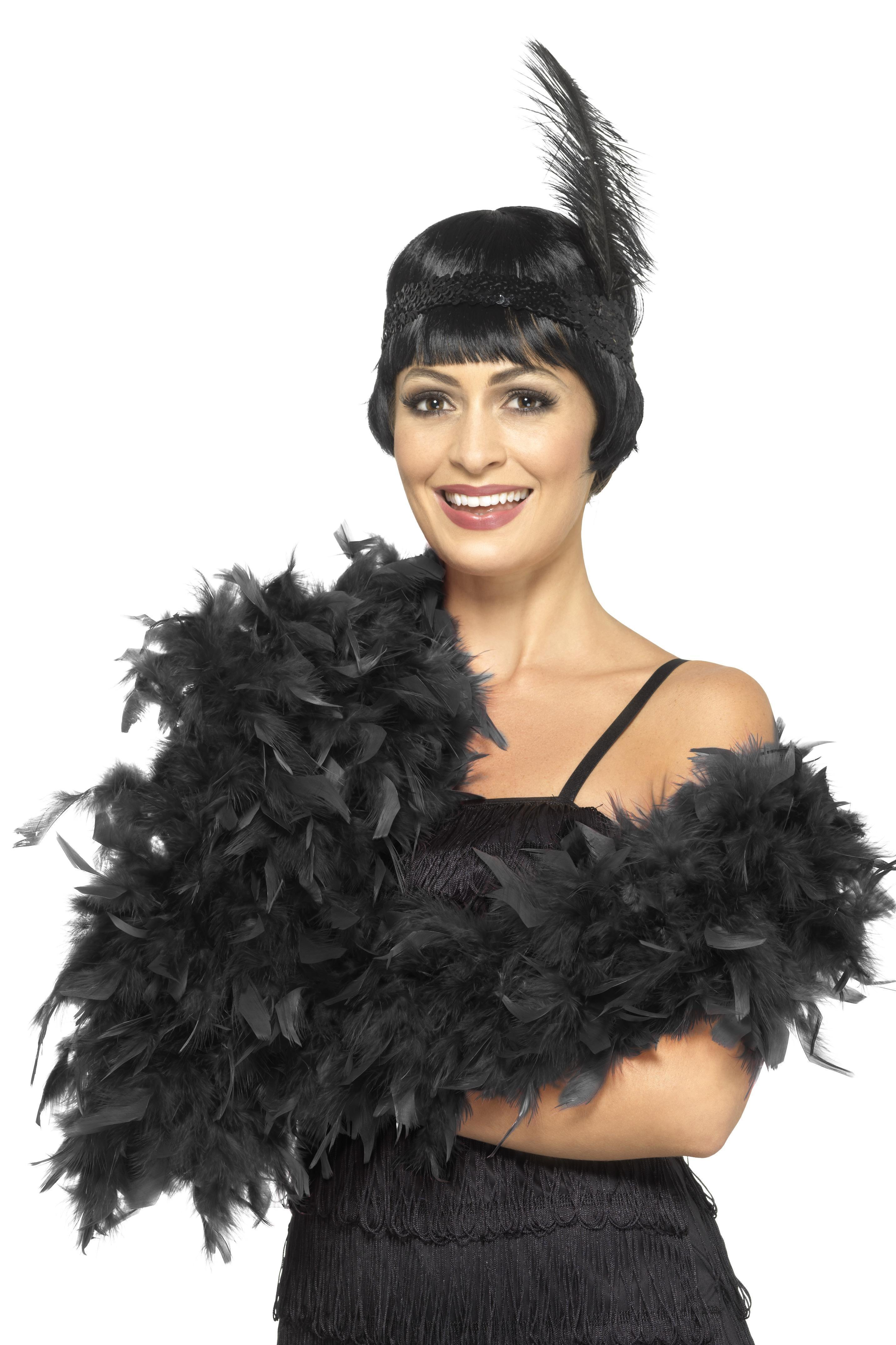 Deluxe Feather Boa Black