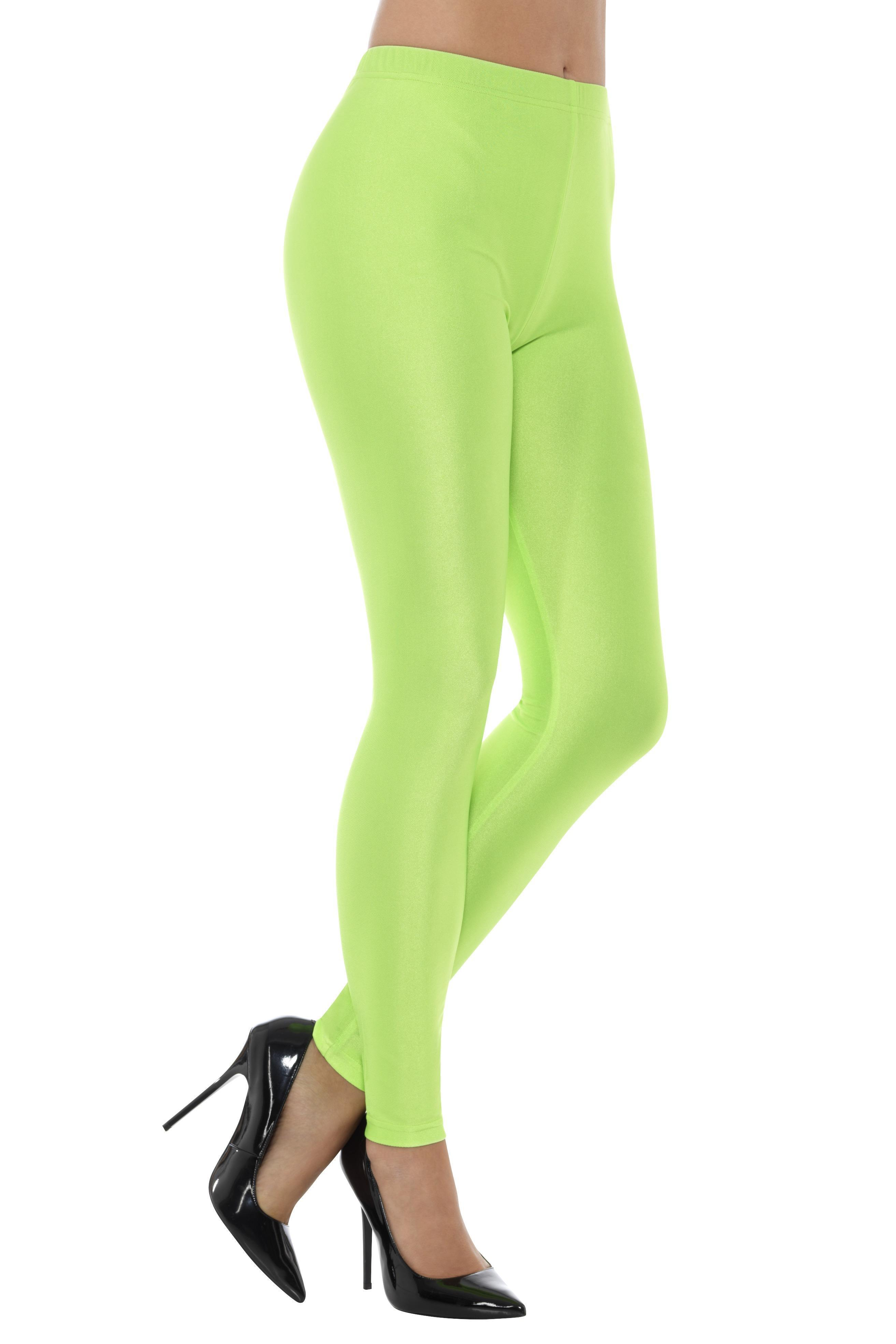 Spandex Disco Leggings Green