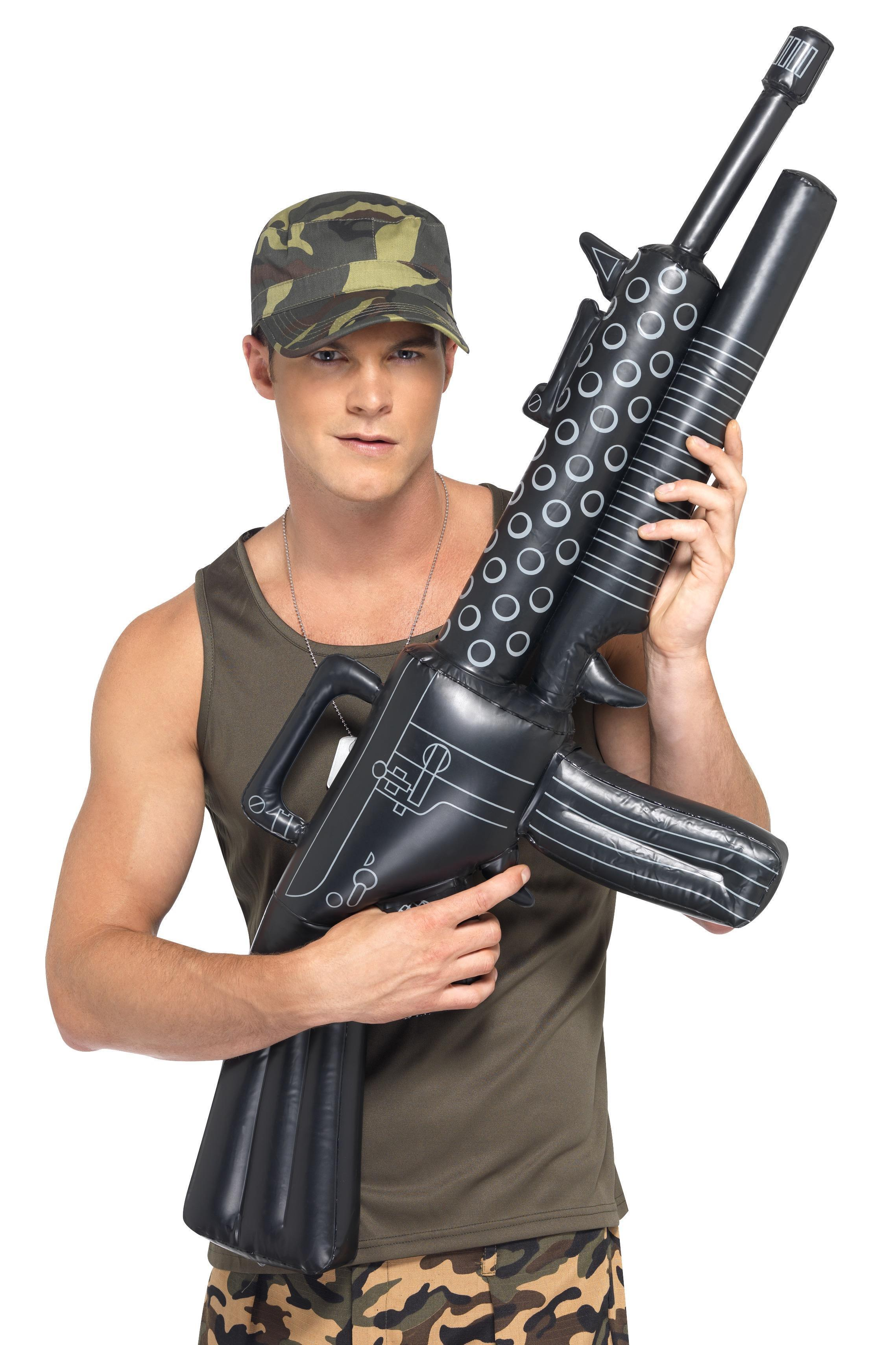 Inflatable Machine Gun Black