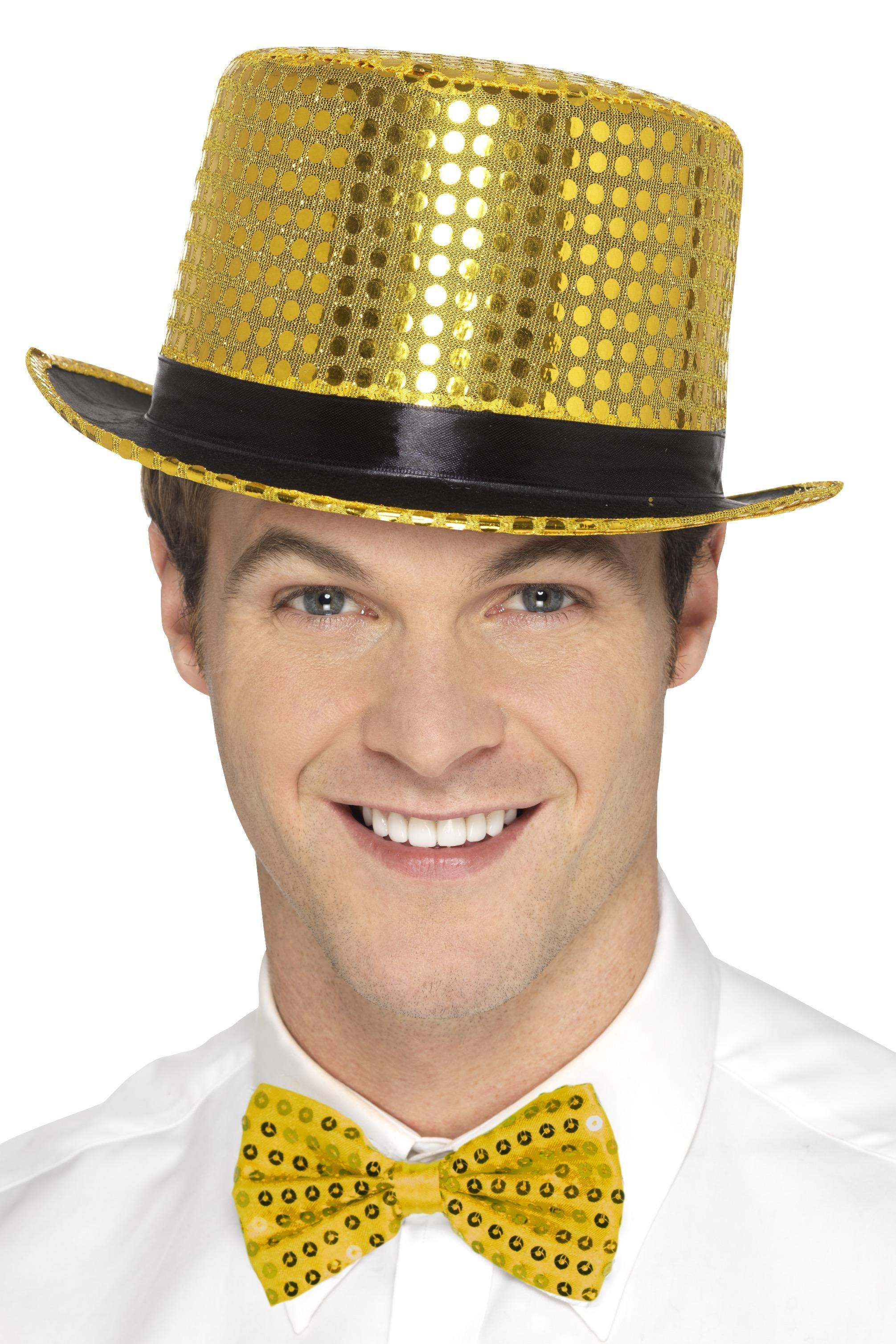 Sequin Top Hat Gold