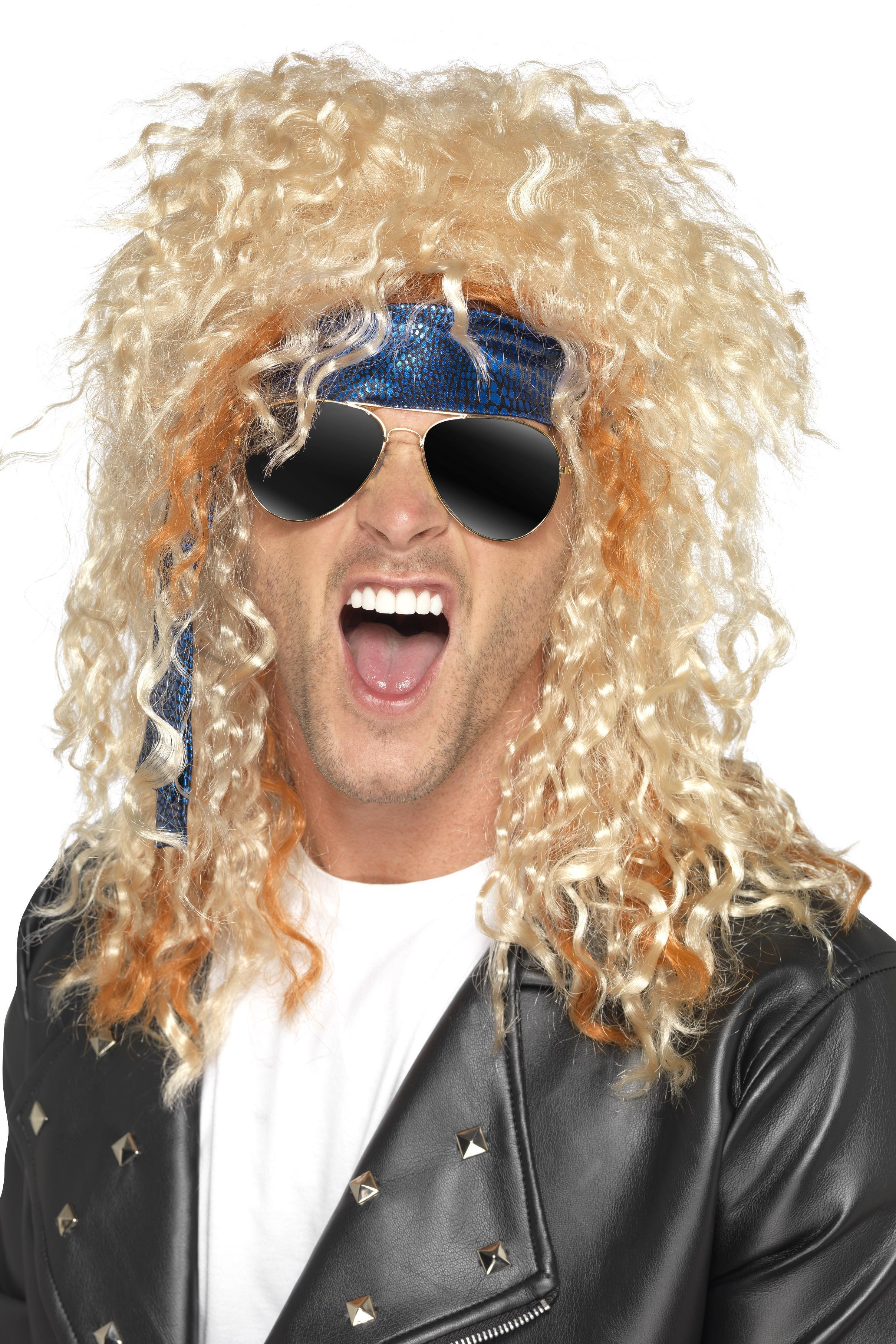 80s Heavy Metal Rocker Wig Kit Blonde