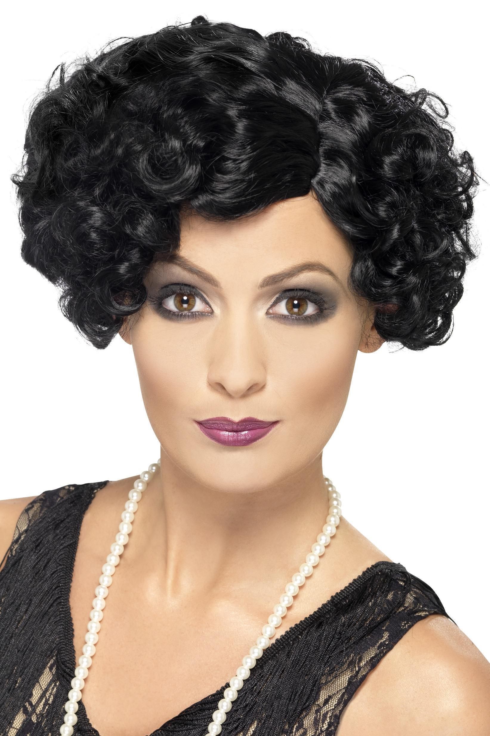 20s Flirty Flapper Wig Black