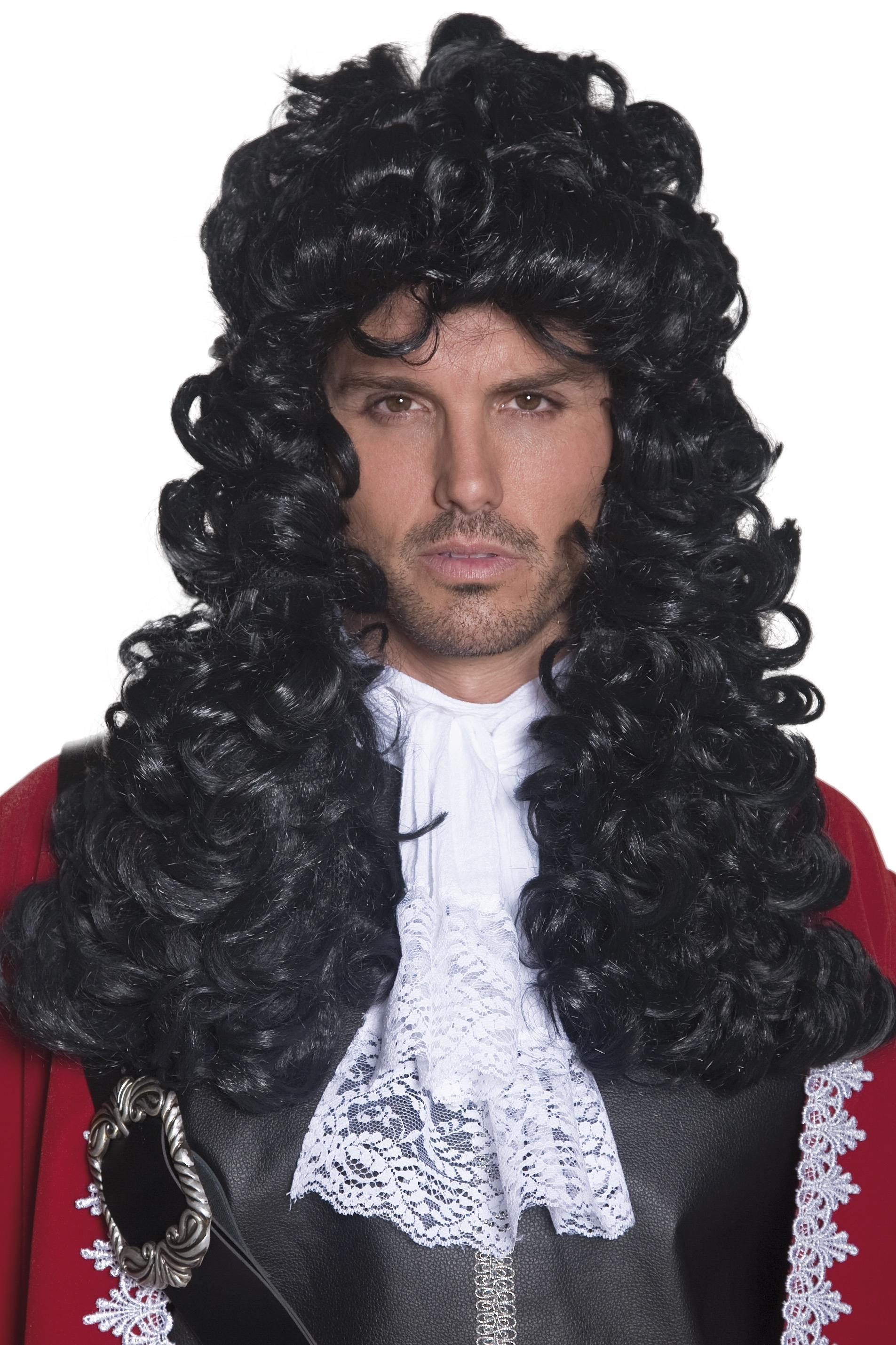 Pirate Captain Wig Black