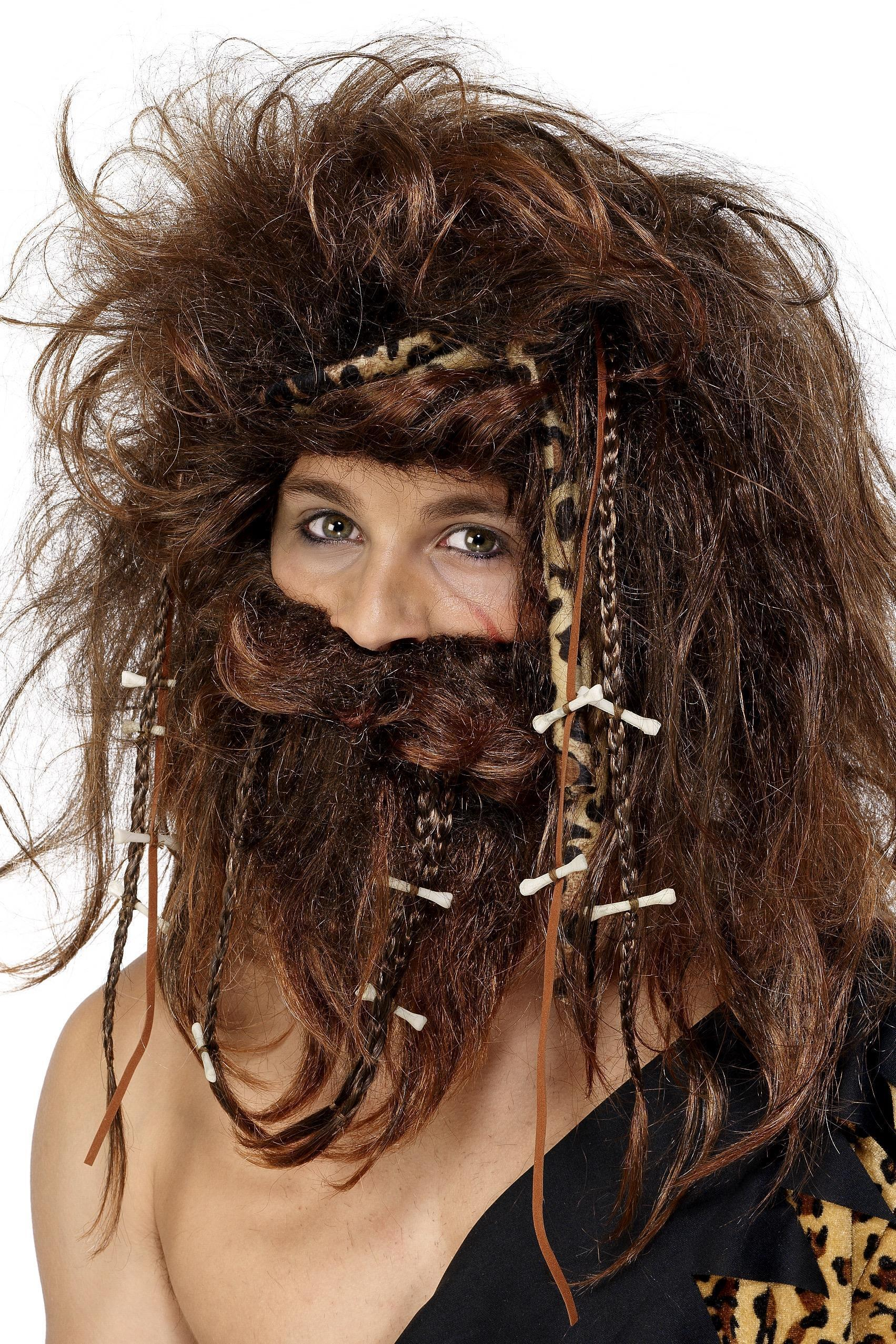 Crazy Caveman Wig & Beard Set
