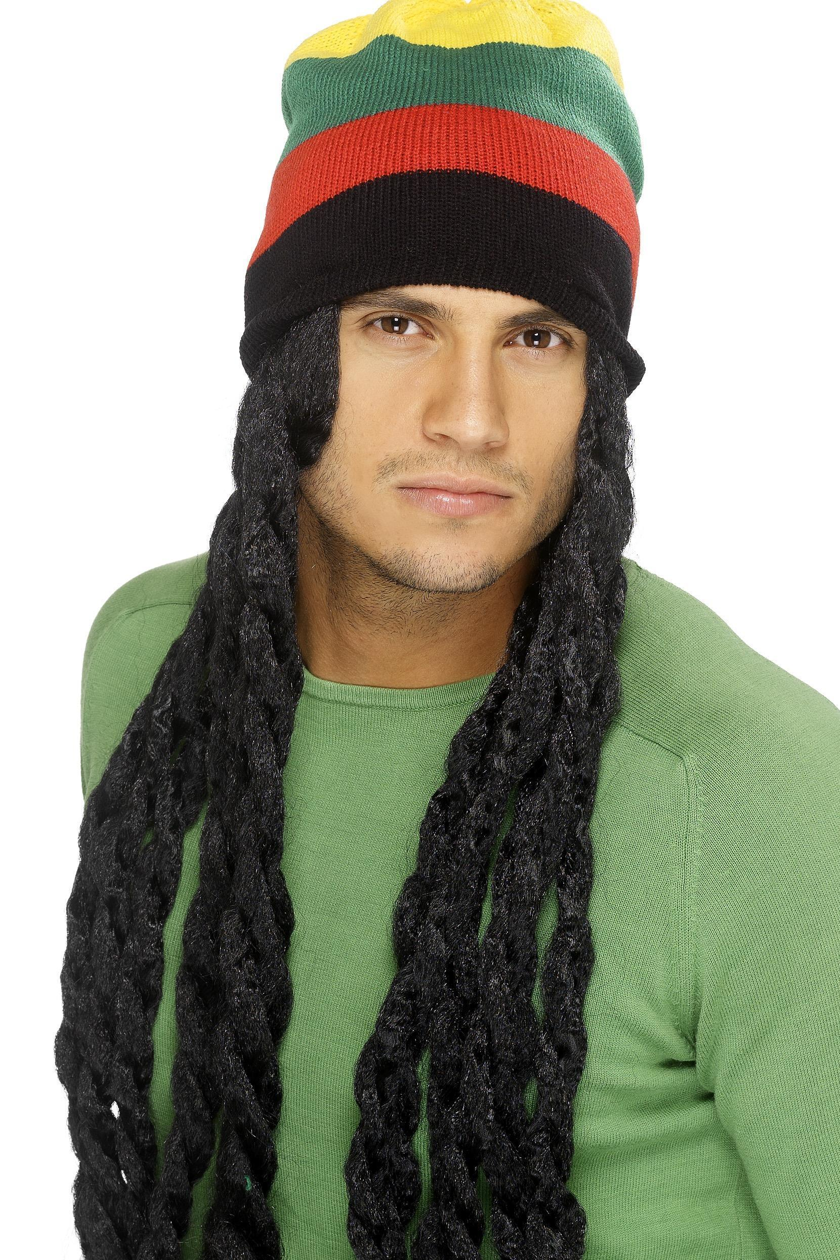 Rasta Hat with Dreadlocks Black
