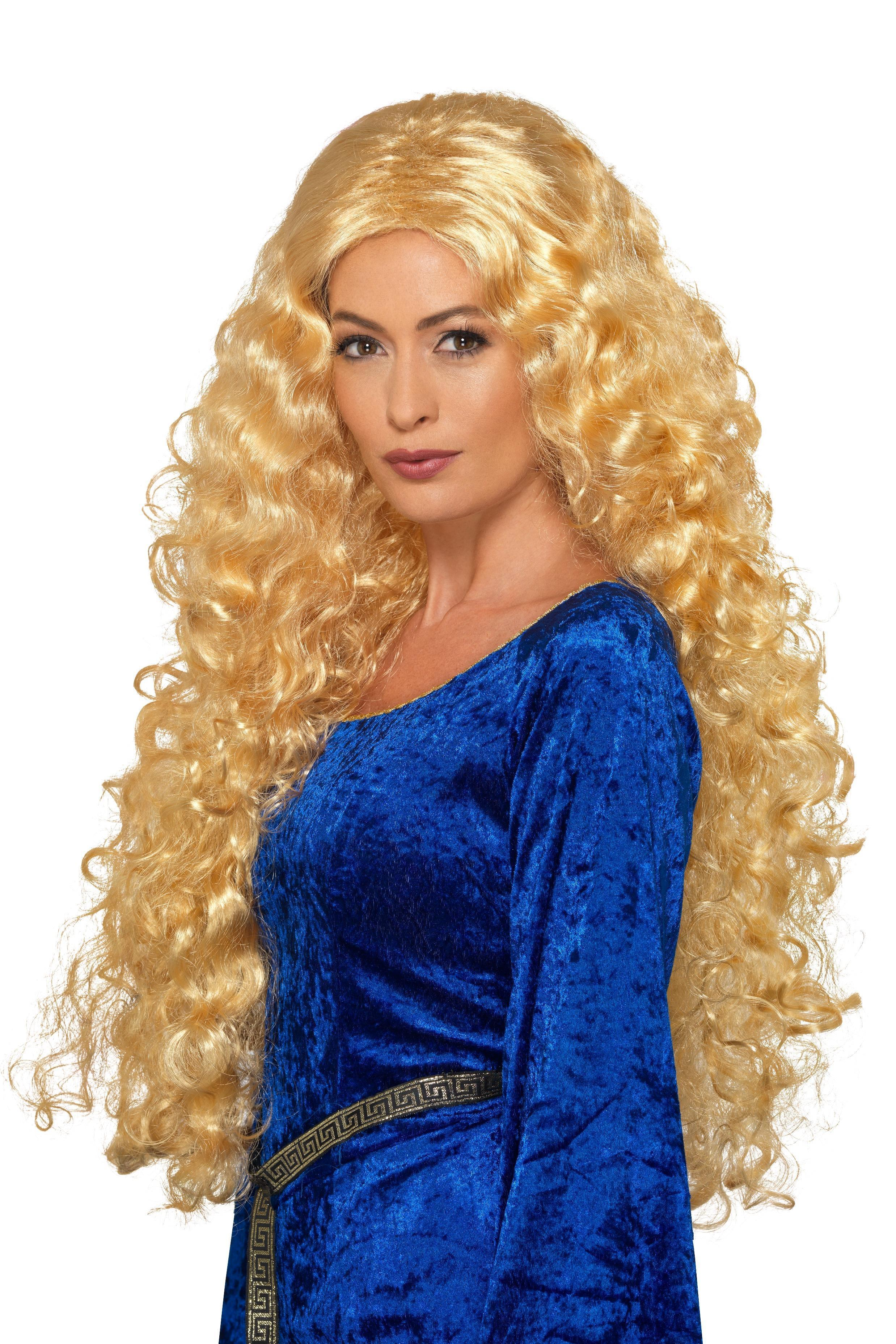 Medieval Warrior Queen Wig Blonde