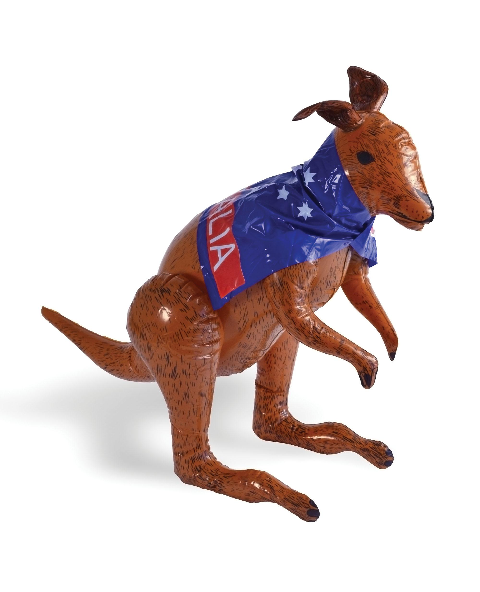 Inflatable Kangaroo with Cape