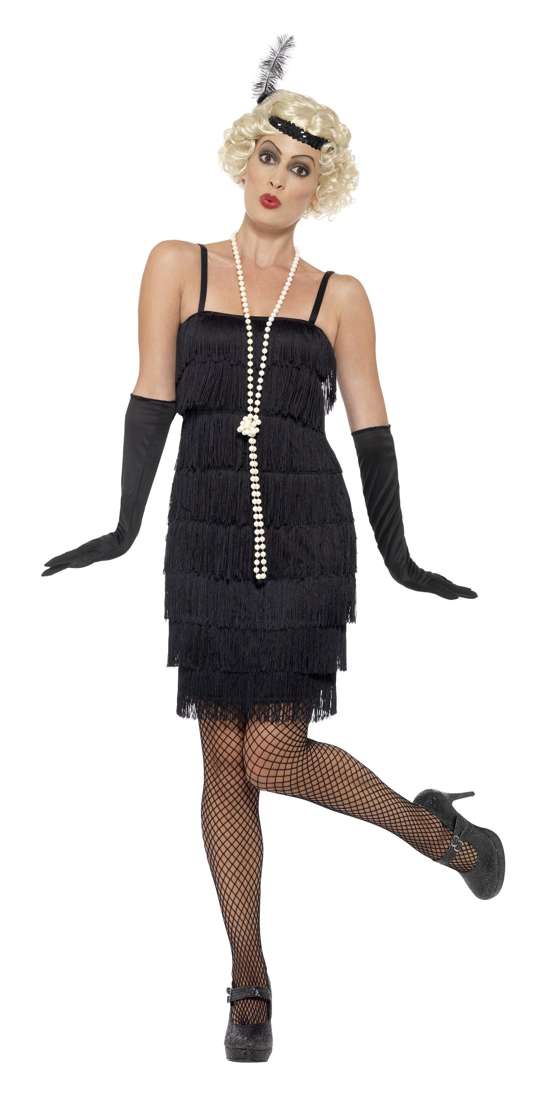 1920s Flapper Costume Black