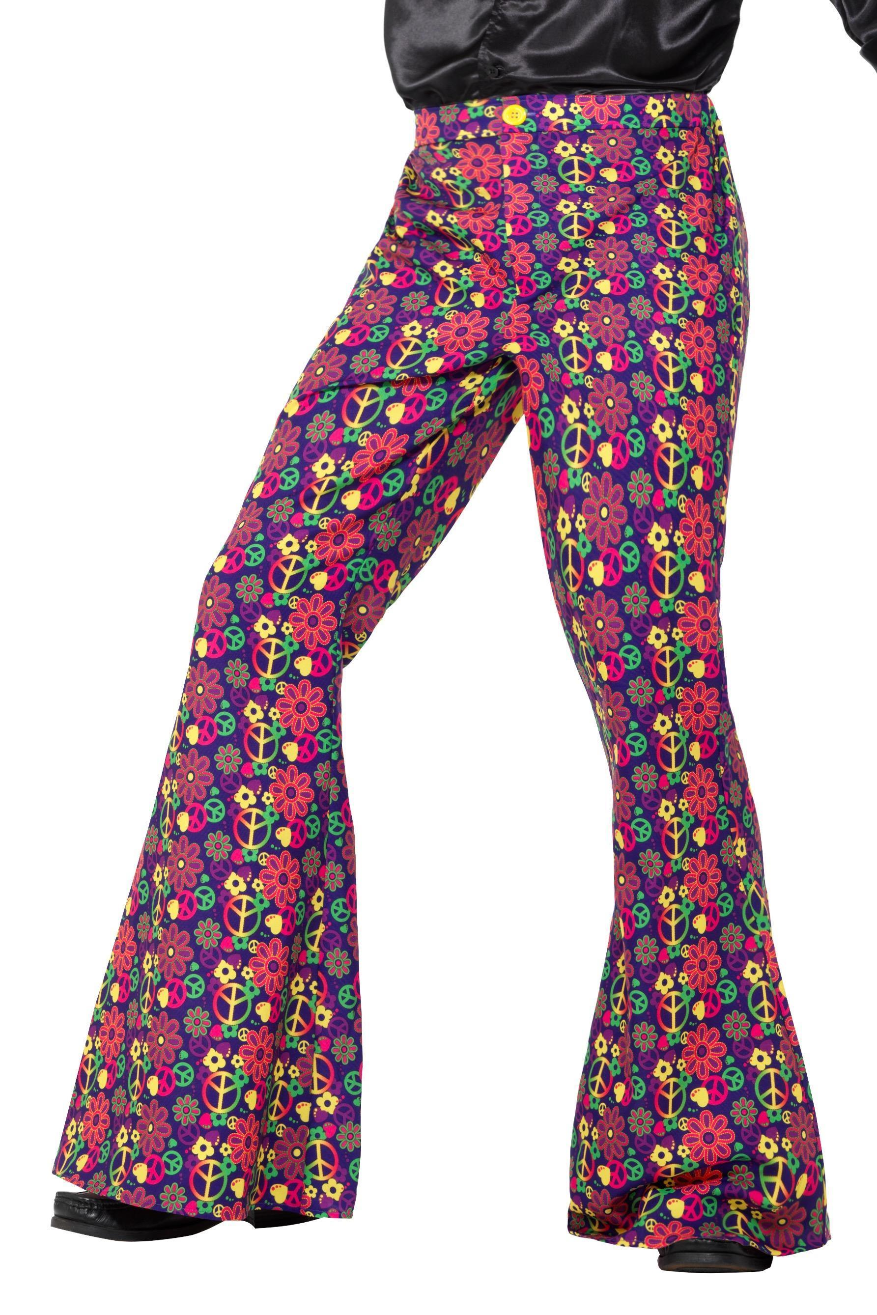 Mens Flared Trousers Psychedelic CND