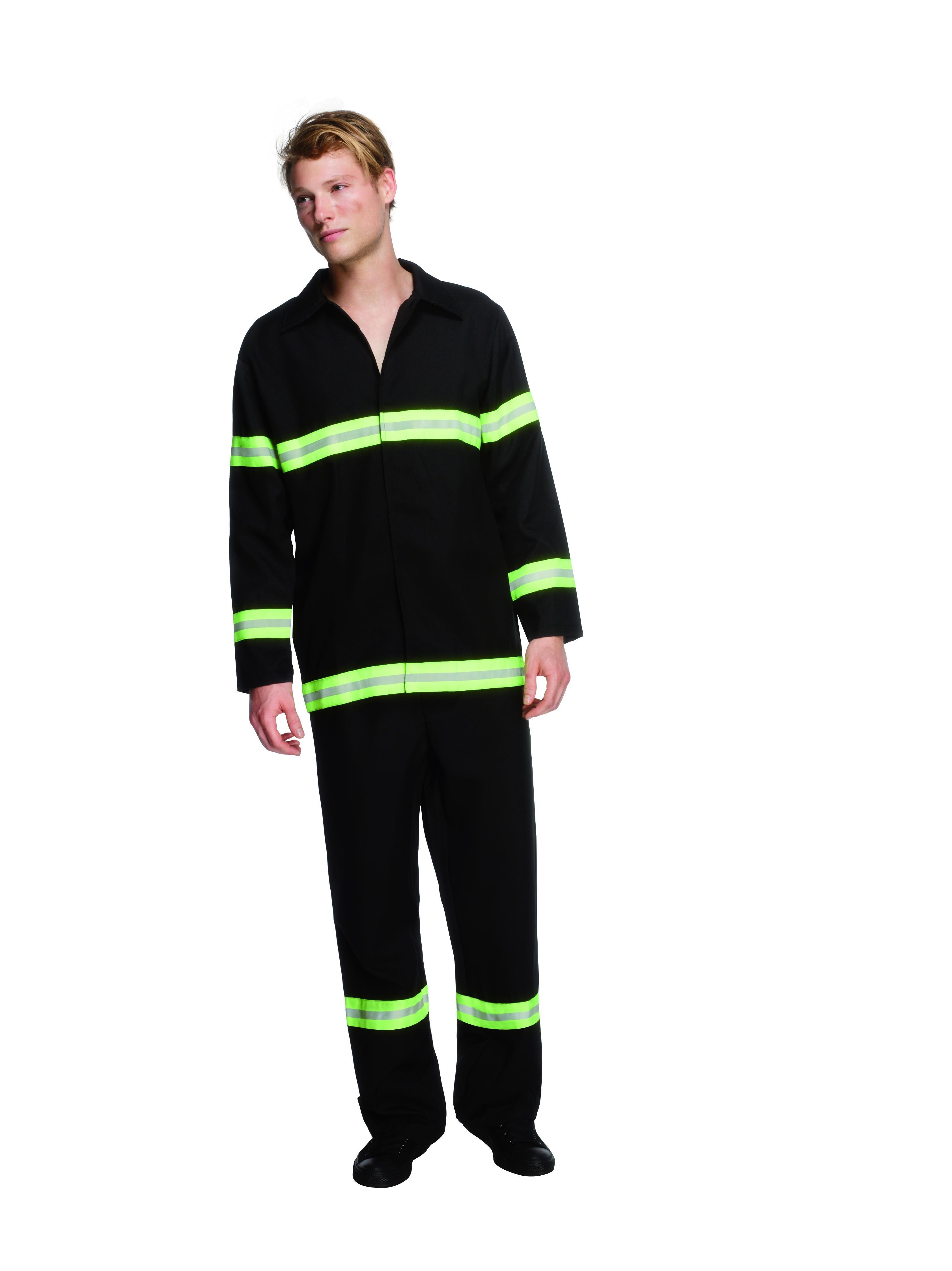 Fever Fireman Costume Black