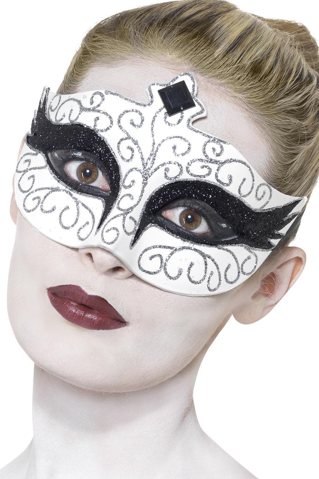 Gothic Swan Eye mask White
