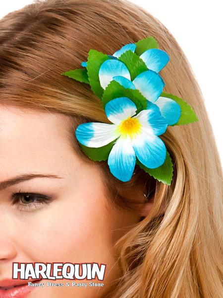 Hawaiian Hair Clip Blue