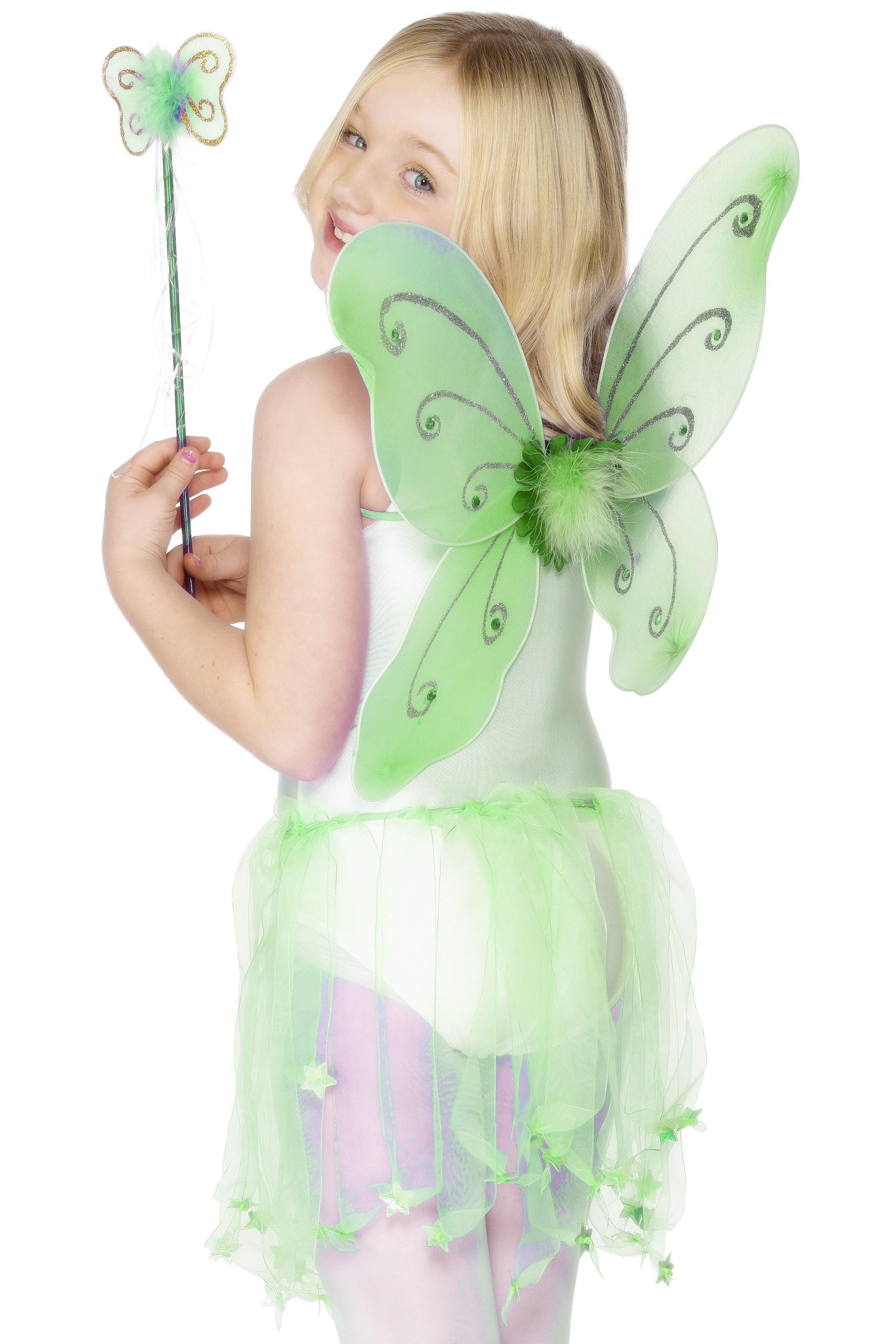 Butterfly Wings & Wand Green