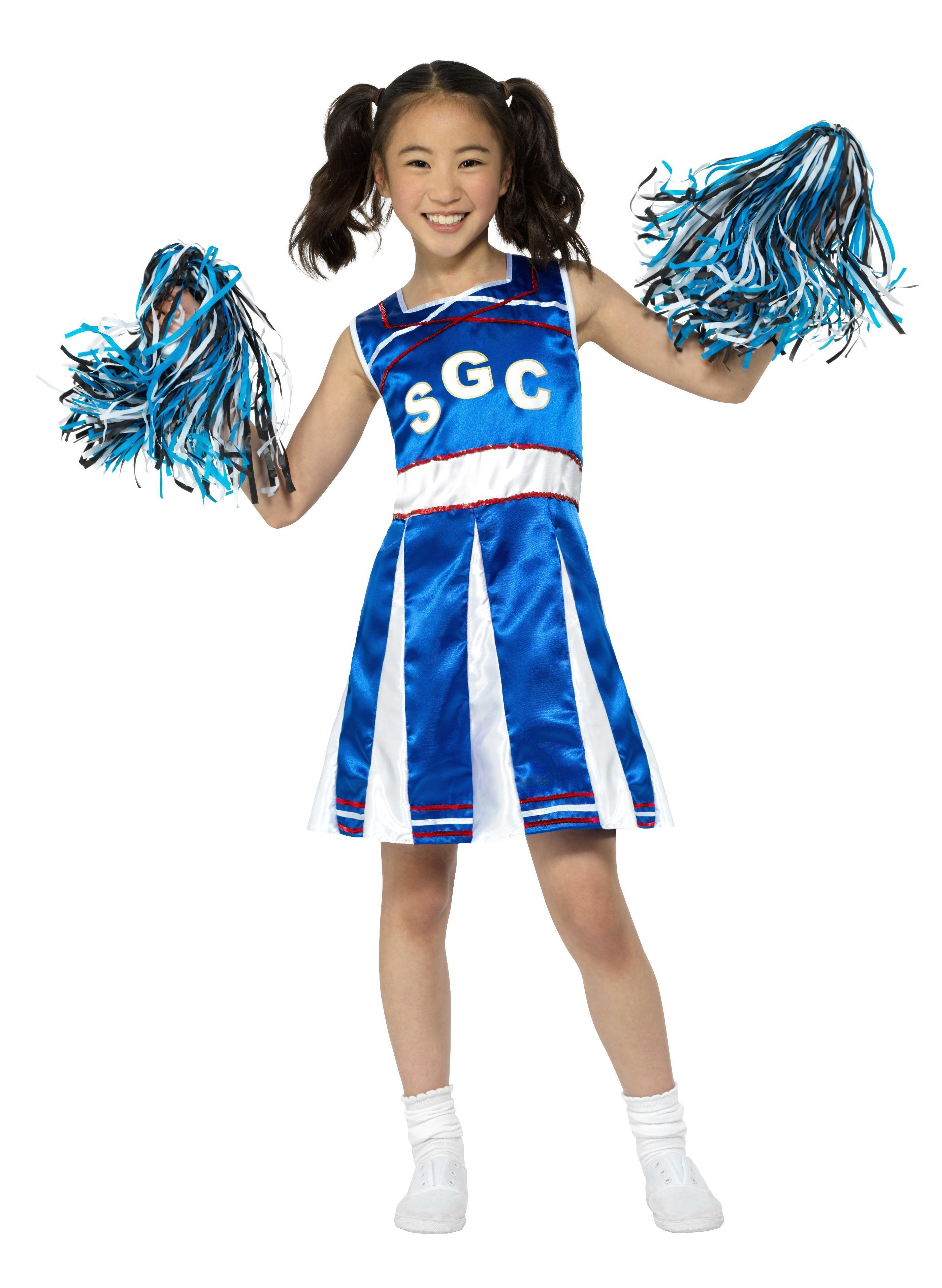 Kids Cheerleader Costume Blue