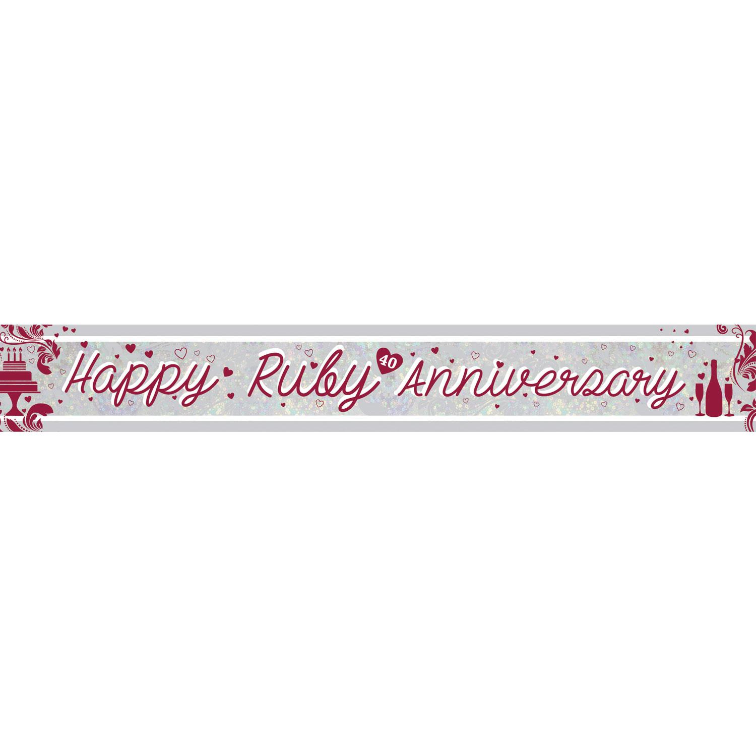 Holographic Banner Ruby Anniversary