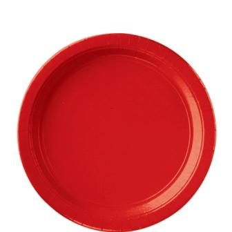 Paper Plates Apple Red 8 Pack
