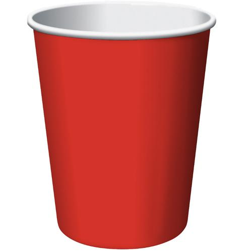 Paper Cups Apple Red 8 Pack