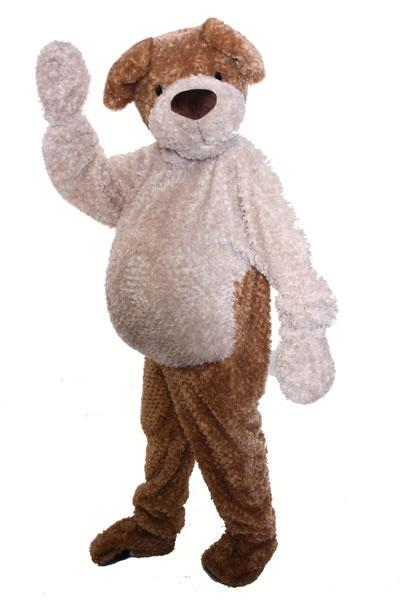 Cuddly Dog Mascot Hire Costume