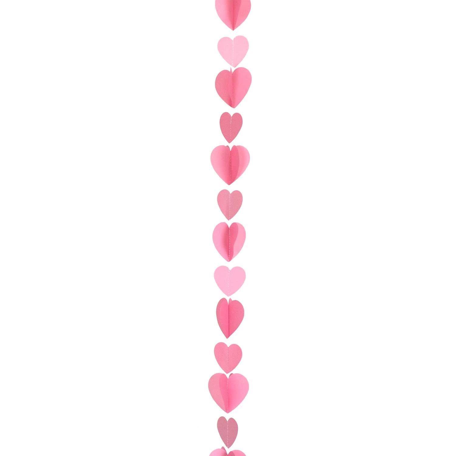 Balloon Tail String Hearts Pink