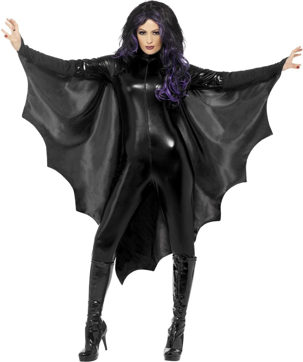 Vampire Bat Wings Cape Black