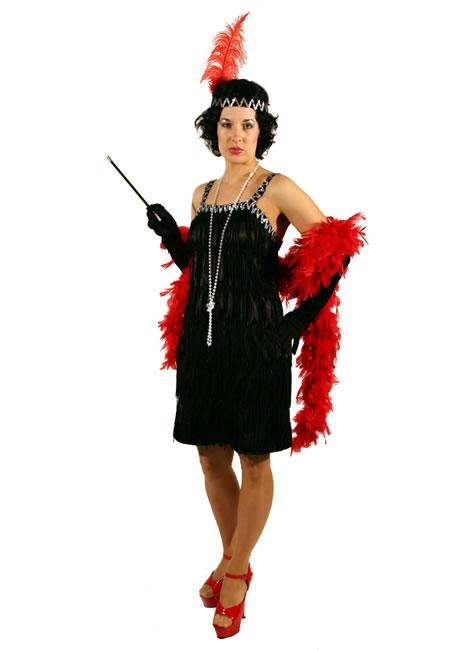 1920s Flapper Black Hire Costume Style 2